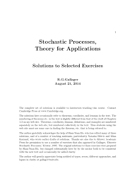 solutions to selected exercises for stochastic processes theory