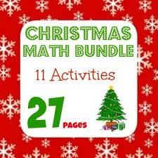 winter math bundle 11 activities