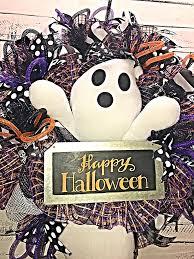 halloween wreath halloween ghost wreath for front door large