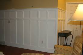 decorating cozy tile flooring with exciting wainscoting panels