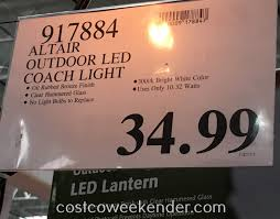 Paradise Solar Lights Costco by Altair Outdoor Led Coach Lantern Costco Weekender Sacharoff