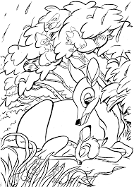 bambi cartoon character mother and bambi coloring pages disney