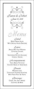 wedding menu template free printable wedding menus wedding menu template wedding