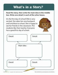 story comprehension what u0027s in a story worksheet education com