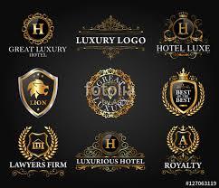 design logo elegant great luxury set royal and elegant logo vector design stock image