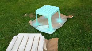spray paint plastic deck furniture youtube