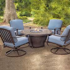 Outdoor Table With Firepit by Concord Cushioned Fire Pit Chat Groupings Patio Furniture Patio