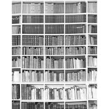 Trompe L Oeil Wallpaper by Trompe L U0027oeil Bibliotheque Black White Ohmywall Touch Of