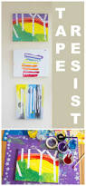 tape resist paintings for kids kids art activities art