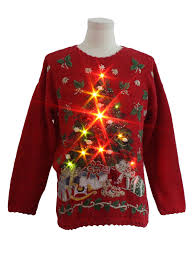 ugly christmas sweater with lights heirloom collectibles unisex lightup ugly christmas sweater