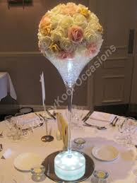 martini huge wedding table centrepieces manchester and the northwest