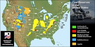 picture of united states map with states and capitals coal reserves in the united states map american coal foundation