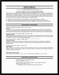 teaching sample resume sample resume for teaching position