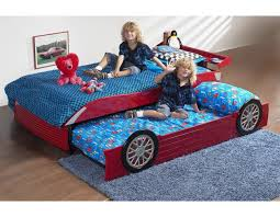 Race Car Bunk Beds Roll Out Trundle Bed Optional FK - Race car bunk bed