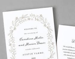 inexpensive wedding programs wedding program template printable wedding program folded