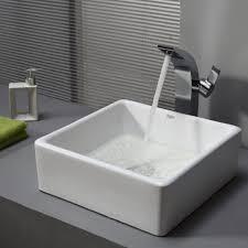bathroom square vessel bathroom sink metal vessel sink blue