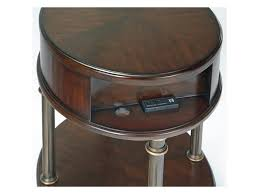end table with outlet progressive furniture regent court t434 03 oval end table with usb