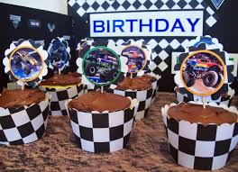 monster truck show madison wi monster jam cupcakes display topper party ideas pinterest