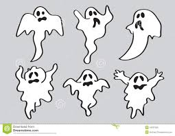 cartoon halloween white ghost stock vector image 44097205