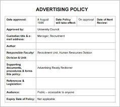 policy and procedure template lisamaurodesign