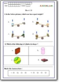 measurement assessment worksheet grade 1 math