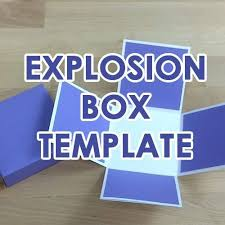 paper gift box template svg pdf exploding explosion box