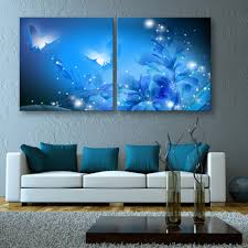 free shipping stretched canvas prints shining butterfly led