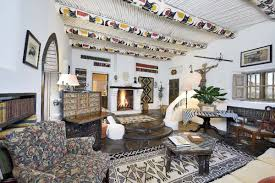 eclectic adobe hacienda filled with southwestern art asks 4 5m