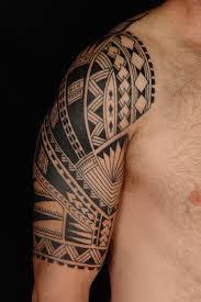 chest and half sleeve polynesian