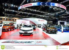 toyota th toyota booth at the 36th bangkok international motor show
