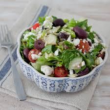 greek islands salad with lemon oregano vinaigrette