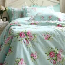 Pink Rose Duvet Cover Set Green Rose Bedding Set