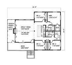 house plans rambler smalltowndjs com one level floor plans 3 bed floor plan 1344 sqft 28 x48 house