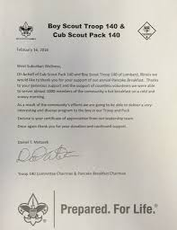 letter of recommendation boy scout troop 140 west suburban