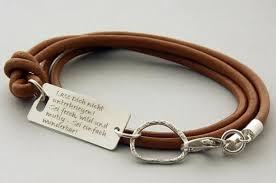 sterling silver leather bracelet images Make my day quote bracelets friendship sterling silver php