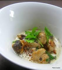 cuisiner le ris de veau soupe de châtaignes ris de veau et sauce sésame noir le de