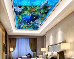 aliexpress com buy custom photo 3d ceiling murals wall paper aliexpress com buy custom photo 3d ceiling murals wall paper ocean space dolphins corals decor painting 3d wall murals wallpaper for walls 3 d from