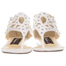 onlineshoe toe post gladiator flat sandal diamate jewelled and