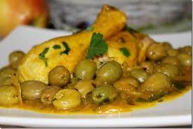cuisiner le poulet poulet aux olives دجاج بالزيتون les joyaux de sherazade