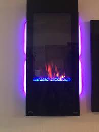 azure series vertical wall mount electric fireplace nefv38h