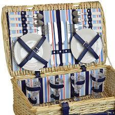 Picnic Basket Set Fitted Picnic Basket Wicker Hamper Set U2013 4 People