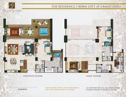 floor plans grand luxxe rentals the luxury of status the residence 3 bedroom loft at grand luxxe
