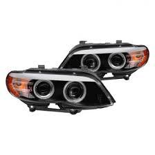 bmw x5 headlights bmw x5 custom projector headlights halos leds carid com