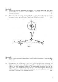 mechanical advantage theory of machines old exam paper docsity