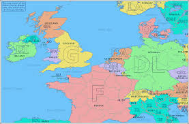 map of europe scandinavia radio prefix map of western europe