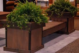 Garden Bench With Planters Wooden Decks Build A Deck Bench With Planter Boxes Azek Bench