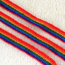 friendship bracelet rainbow images Rainbow promises friendship bracelet 3 pack rainbow macrame jpg