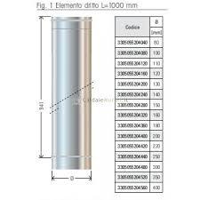 prezzi canne fumarie in acciaio per camini canna fumaria mm 1000 纔 80 monoparete acciaio inox aisi 304