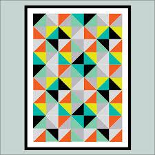 geometric abstract art print by hullaballoo notonthehighstreet com