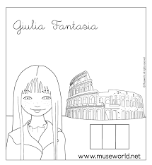 giulia rome coloring pages hellokids